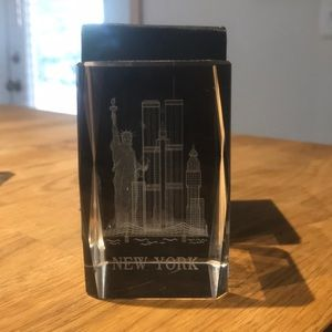 Accents - Etched glass paper weights